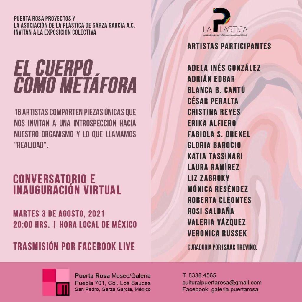 Exposición virtual El cuerpo como metáfora en Puerta Rosa Museo/Galería, La Plástica de Garza García